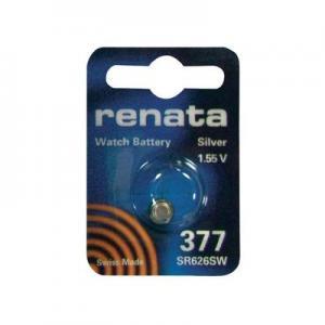 Baterie buton oxid de argint 377, 1,55 V, 28 mAh, Renata